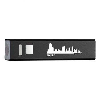Austin, Texas-Portable 2600 mAh Cell Phone Charger-BLK