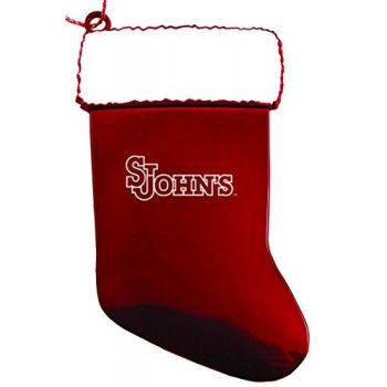 St. John's University - Chirstmas Holiday Stocking Ornament - Red
