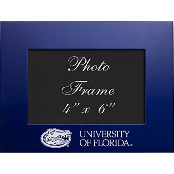 University of Florida - 4x6 Brushed Metal Picture Frame - Blue