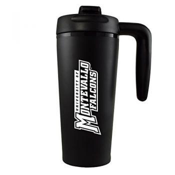 University of Montevallo-16 oz. Travel Mug Tumbler with Handle-Black
