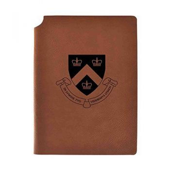 Columbia University Velour Journal with Pen Holder|Carbon Etched|Officially Licensed Collegiate Journal|