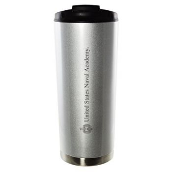 United States Naval Academy-16oz. Stainless Steel Vacuum Insulated Travel Mug Tumbler-Silver