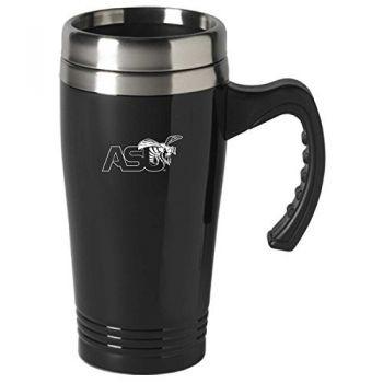 Alabama State University-16 oz. Stainless Steel Mug-Black