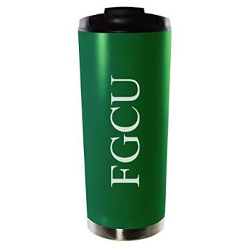 Florida Gulf Coast University-16oz. Stainless Steel Vacuum Insulated Travel Mug Tumbler-Green