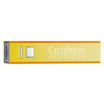 Creighton University - Portable Cell Phone 2600 mAh Power Bank Charger - Gold