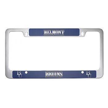 Belmont University-Metal License Plate Frame-Blue