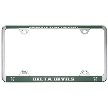 Mississippi Valley State University -Metal License Plate Frame-Green