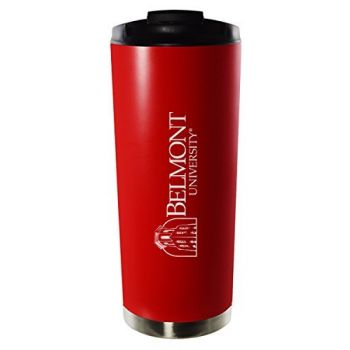 Belmont University-16oz. Stainless Steel Vacuum Insulated Travel Mug Tumbler-Red