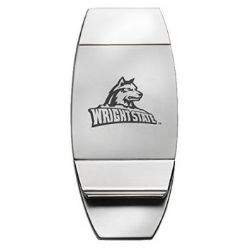 Wright State University - Two-Toned Money Clip - Silver