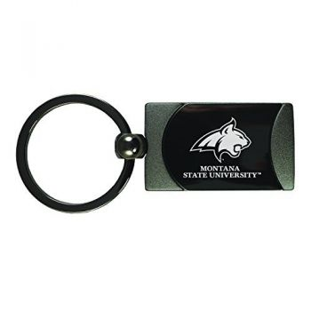Montana State University -Two-Toned gunmetal Key Tag-Gunmetal