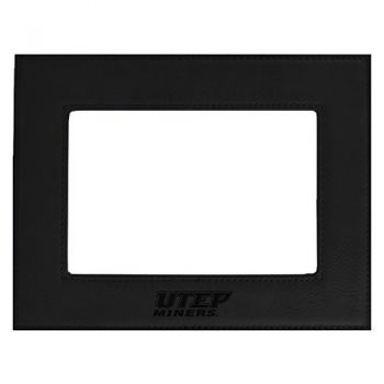 The University of Texas at El Paso-Velour Picture Frame 4x6-Black