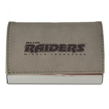 Velour Business Cardholder-Middle Tennessee State University-Grey
