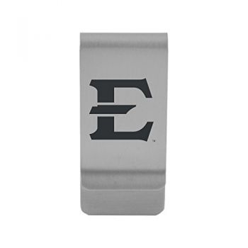 East Tennessee State University|Money Clip with Contemporary Metals Finish|Solid Brass|High Tension Clip to Securely Hold Cash, Cards and ID's|Gold