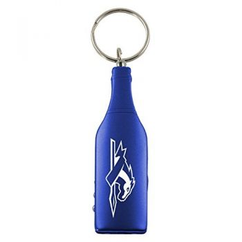Longwood University-Wine Shaped Bottle Opener-Blue