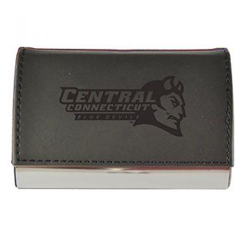 Velour Business Cardholder-Central Connecticut University-Black
