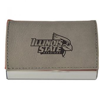 Velour Business Cardholder-Illinois State University-Grey