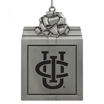 University of California, Irvine-Pewter Christmas Holiday Present Ornament-Silver