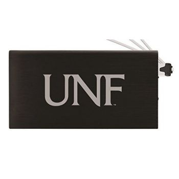 8000 mAh Portable Cell Phone Charger-University of North Florida-Black
