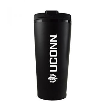 University of Connecticut-16 oz. Travel Mug Tumbler-Black