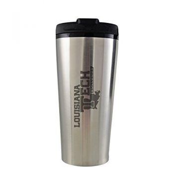 Louisiana Tech University -16 oz. Travel Mug Tumbler-Silver