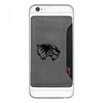 Utah Valley University-Cell Phone Card Holder-Grey