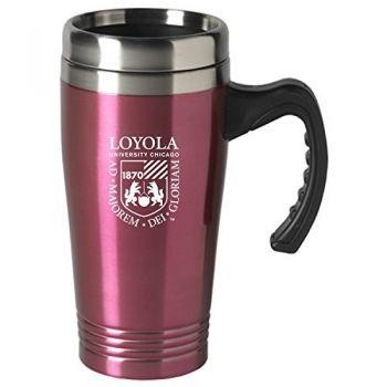 Loyola University Chicago-16 oz. Stainless Steel Mug-Pink