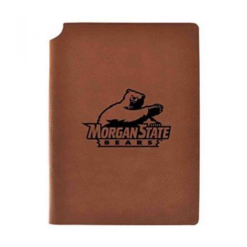 Morgan State University Velour Journal with Pen Holder|Carbon Etched|Officially Licensed Collegiate Journal|