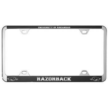University of Arkansas-Metal License Plate Frame-Black