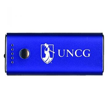 University of North Carolina at Greensboro-Portable Cell Phone 5200 mAh Power Bank Charger -Blue