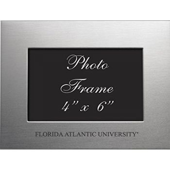 Florida Atlantic University - 4x6 Brushed Metal Picture Frame - Silver
