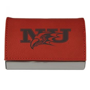 Velour Business Cardholder-Niagara University-RED