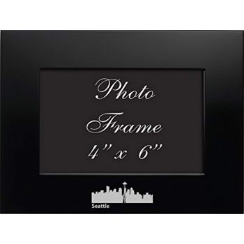 4 x 6  Metal Picture Frame - Seattle City Skyline