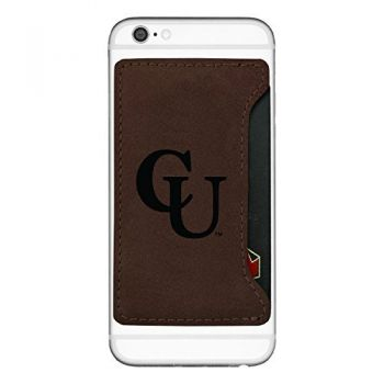 Campbell University-Cell Phone Card Holder-Brown