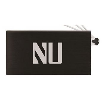 8000 mAh Portable Cell Phone Charger-Northwestern University -Black