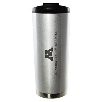 University of Minnesota-16oz. Stainless Steel Vacuum Insulated Travel Mug Tumbler-Silver