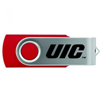 University of Illinois at Chicago-8GB 2.0 USB Flash Drive-Red