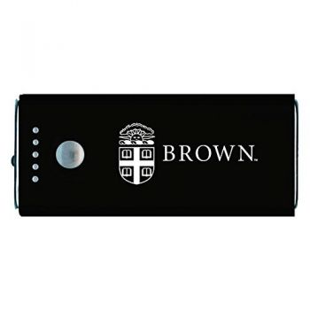Brown University -Portable Cell Phone 5200 mAh Power Bank Charger -Black