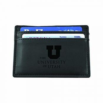 University of Utah-European Money Clip Wallet-Black