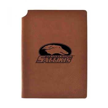 Southern Illinois University Velour Journal with Pen Holder|Carbon Etched|Officially Licensed Collegiate Journal|
