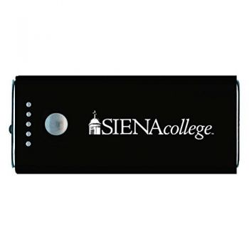 Siena College-Portable Cell Phone 5200 mAh Power Bank Charger -Black
