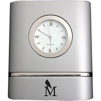 University of Montevallo- Two-Toned Desk Clock -Silver
