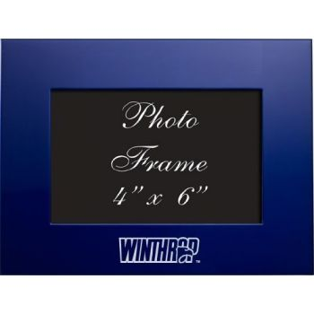 Winthrop University - 4x6 Brushed Metal Picture Frame - Blue