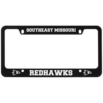 Southeast Missouri State University -Metal License Plate Frame-Black