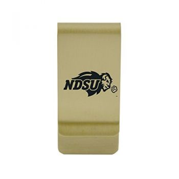 University of North Dakota|Money Clip with Contemporary Metals Finish|Solid Brass|High Tension Clip to Securely Hold Cash, Cards and ID's|Silver