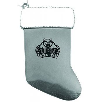 University of Central Arkansas - Christmas Holiday Stocking Ornament - Silver