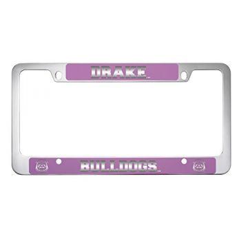Drake University-Metal License Plate Frame-Pink