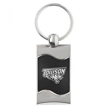 Towson University - Wave Key Tag - Black