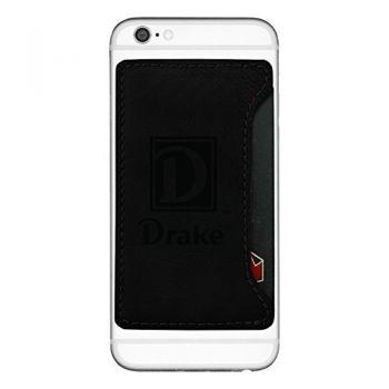 Drake University-Cell Phone Card Holder-Black