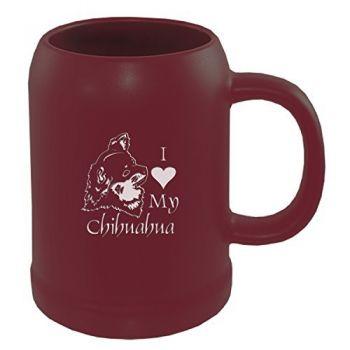 22 oz Ceramic Stein Coffee Mug  - I Love My Chihuahua