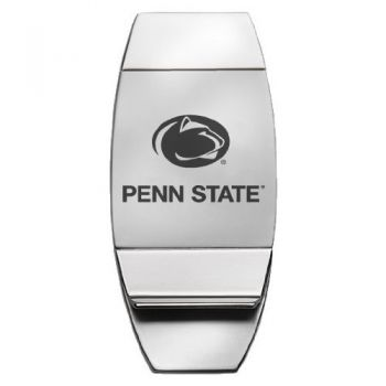 Pennsylvania State University - Two-Toned Money Clip - Silver